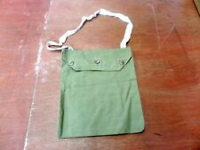 BRITISH WW2 CANVAS RESPIRATOR HAVERSACK BAG MADE BY H&SW.O 1940