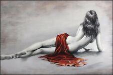 femme dénudée tableau peinture huile sur toile / painting nude