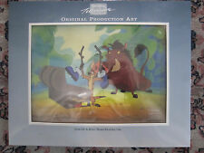 Disney The Lion King's Timon & Pumbaa Production animation Cel COA