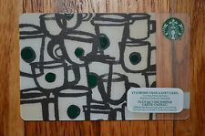 "Canada Series Starbucks ""BROWN CUPS 2015"" Gift Card - New No Value"