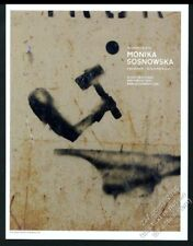 2010 Monika Sosnowska art NYC gallery show vintage print ad
