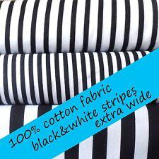 Black And White Striped Fabric Cotton Ebay