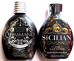 Designer Skin Command Bronzer Tanning Lotion w/ Tattoo Protection & The Sicilian