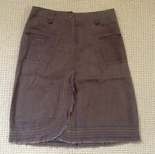 i.t.w. by claude brown BOHO Brown MODCLOTH linen Skirt size 2   RARE!