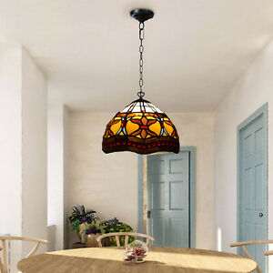 Antique Tiffany Lamps Stained Glass Pendant light Handcrafted Home Decoration UK