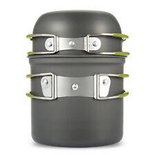Pot Outdoor Camping Ultralight Titanium Cookware Picnic Cooking Set Bowl Pan New