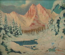 F SIMO b.1897 ARGENTINA PATAGONIA CERRO TORRE 1942 SOUTH AMERICA PAINTING