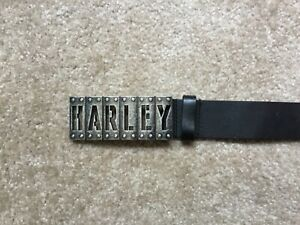 Harley Davidson leather belt with buckle EUC men's 36