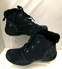 Hotter Ladies Navy Suede Ankle Boots RUBY UK 6 EUR 39 NEW Blue Casual - C543