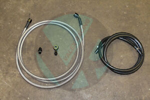 92-95 Civic 3dr HB Replacement Stainless Steel -6 Fuel Feed Line & Rubber Return