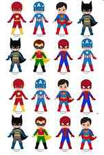 16 marvel super hero hulk batman spiderman edible rice cup cake stand up toppers
