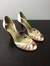 Coach Pamela Satin Heels Open Toe Strappy Sandals Size 6.5 B