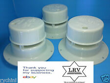 3 RV Camper Trailer Roof vent Cap, OEM Removable Top, Plumbing Sewer Vent White