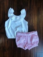 Janie and Jack, Baby Girl Toddler Outfit, Pink White, 18-24 Months