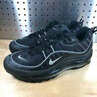 New Nike Air Max 98 Black Metallic Silver Oil Grey 640744 013 Men's Size 8.5