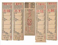 1930s 40s Lot 5 Cincinnati St Ry ticket Warsaw Ave (Oakley) East End Auburn Ave