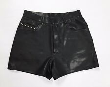 Versace donna shorts w30 tg 44 pantalone corto eco pelle nero donna usato hot