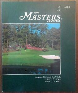 The Master's Journal Official Program 1997  Tiger's 1st Major Rare VHTF Golf