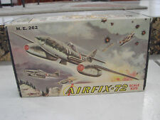 Airfix 1/72 M.E. 262 Military Airplane plastic model vintage Series 11-39 USA