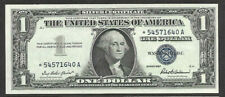 1957 $1 One Dollar Star Note Silver Certificate