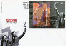 Portugal 2017 FDC Mario Soares Prime Minister 1v M/S Cover Politicians Stamps