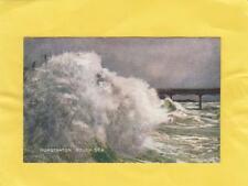 HUNSTANTON   ROUGH  SEA      NORFOLK   ( r6 )