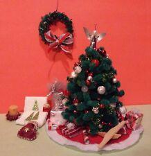 Dollhouse Miniature Christmas Lot HANDMADE Decorated Tree etc.