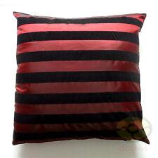burgundy black striped Raised Flocked Fashion Satin Cushion Cover/Pillow case