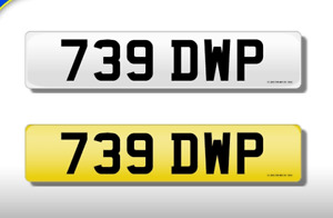 739 DWP CHERISHED NUMBER PERSONAL PLATE