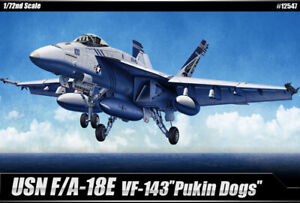 Academy 1/72 USN F/A-18E VF-143 Pukin Dogs Hobby Plastic Model Kit Toy