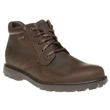 Mens Rockport Brown Storm 2 Leather BOOTS Lace up UK 10