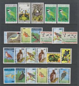 Cameroun - Small Collection of 23 Bird stamps - MNH