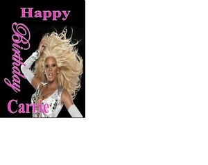 PERSONALISED Drag Queen Rupaul Birthday Card A5 ANY NAME ANY AGE