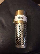 "1"" ProPlumber Brass Foot Valve PPFV100NL New!!!"