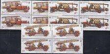 Ukraine 2016 Mi.#1579-81 Fire Trucks set of 3 stamps in blocks of 4 Cat.Eu 12.80