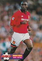 ANDY COLE HAND SIGNED MANCHESTER UNITED MAGAZINE PHOTO.