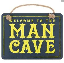 Man Cave of Dad Plaque Hanging Sign Door Hanger Shed Notice Study