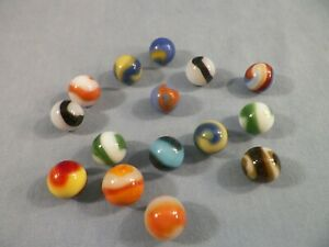 Lot of 15 Vintage Akro Agate Company Corkscrew Marbles Lot#2