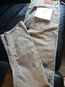 Billy Reid Dyed Jean Size 31 khaki  Slim Cut Made USA Pockets Button Fly BNWT
