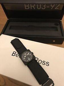 Bell & Ross BR 03-92  Mattschwarz Armbanduhr BR0392 Neuwertig Keramik