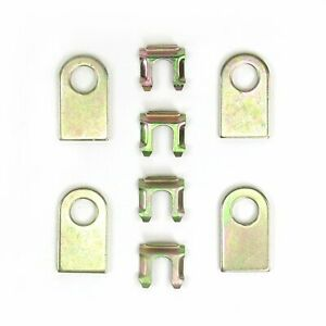1960 - 1966 Chevy or GMC Truck Deluxe Brake Line Clip Tab Kit mounting jegs
