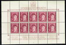 Germany WW2 General Government Copernicus 400 Ann rare Souvenir Sheet 1943 MNH
