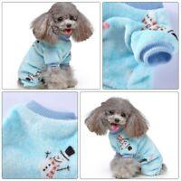 1PC Christmas Pet Clothes Four-legged Fleece Clothes Christmas Dog Clothes