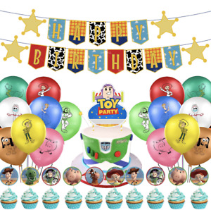 Toy Story happy birthday banner balloon party set AU STOCK decor balloons topper