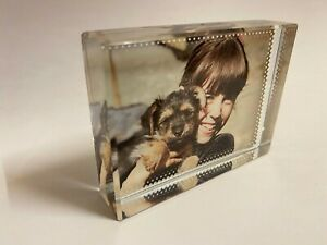 Personalised Photo Crystal Glass Block with a 3D effect With Gift Box Free P@P