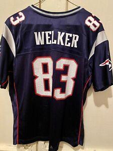 Reebok Women's New England Patriots #83 Wes Wekler NFL OnField Jersey Sz XL