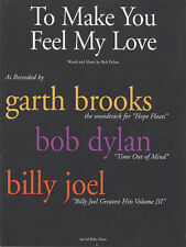 To Make You Feel My Love Song by Bob Dylan Piano Sheet Music Guitar Chords NEW
