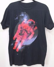 ALTRU Astronaut Spaceman Outer Space Flight Galaxy Stars Black Graphic T-Shirt L