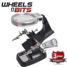 10 LED accendere Helping Hand Lente di Ingrandimento Saldatura gioielli tools