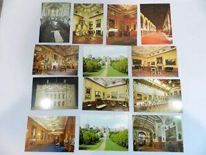 Lot of 13 Windsor Castle Post Cards Berkshire Royal Mail King's Suite England
